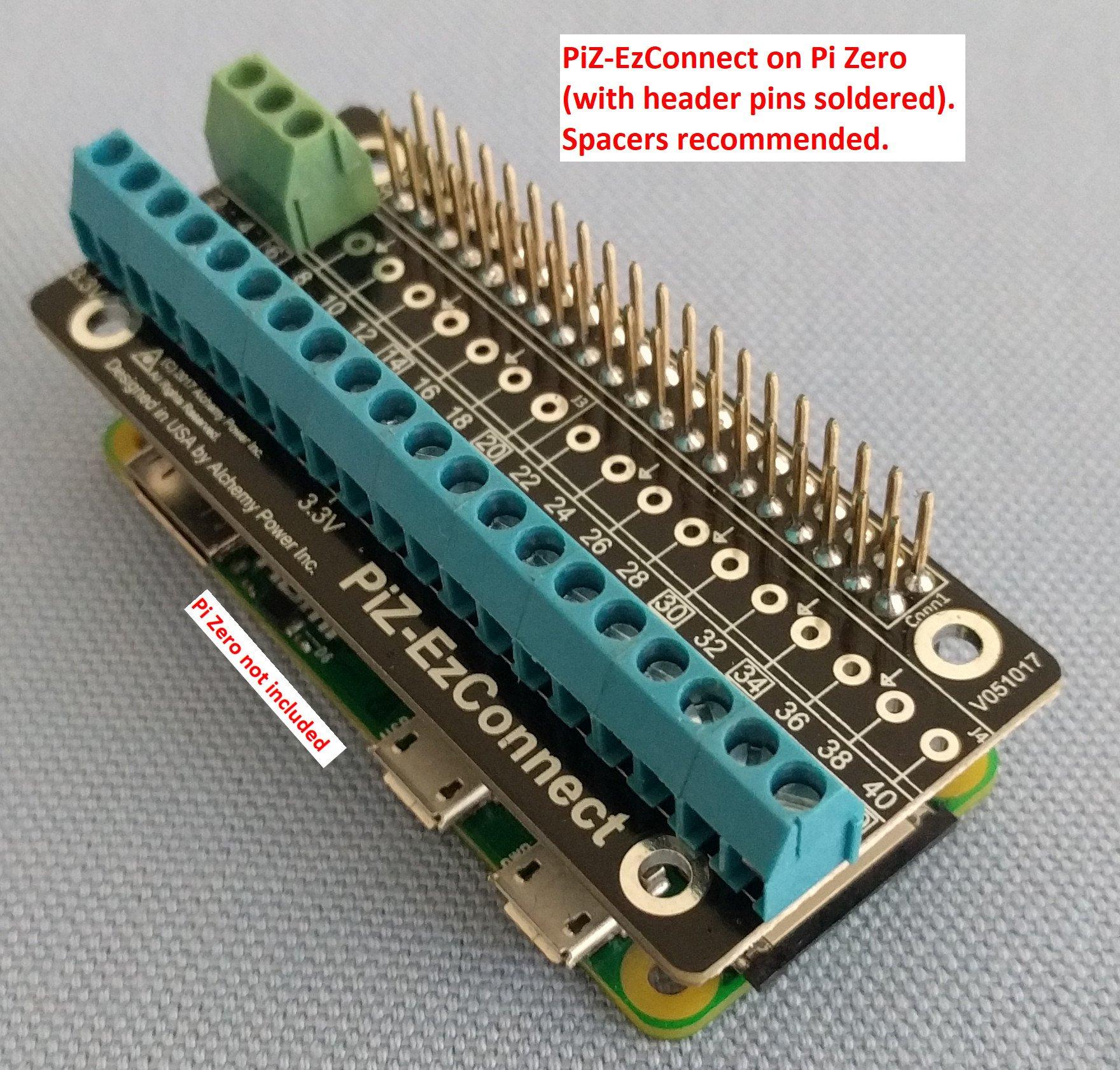 Screw Terminals for the Raspberry Pi and Pi Zero