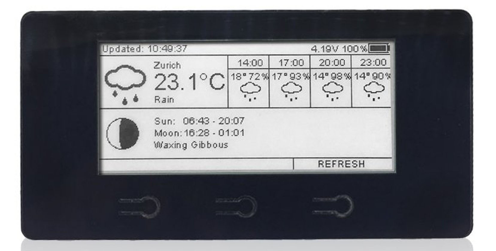 ESP8266 ePaper WiFi Display Kit Runs for Months on a Charge