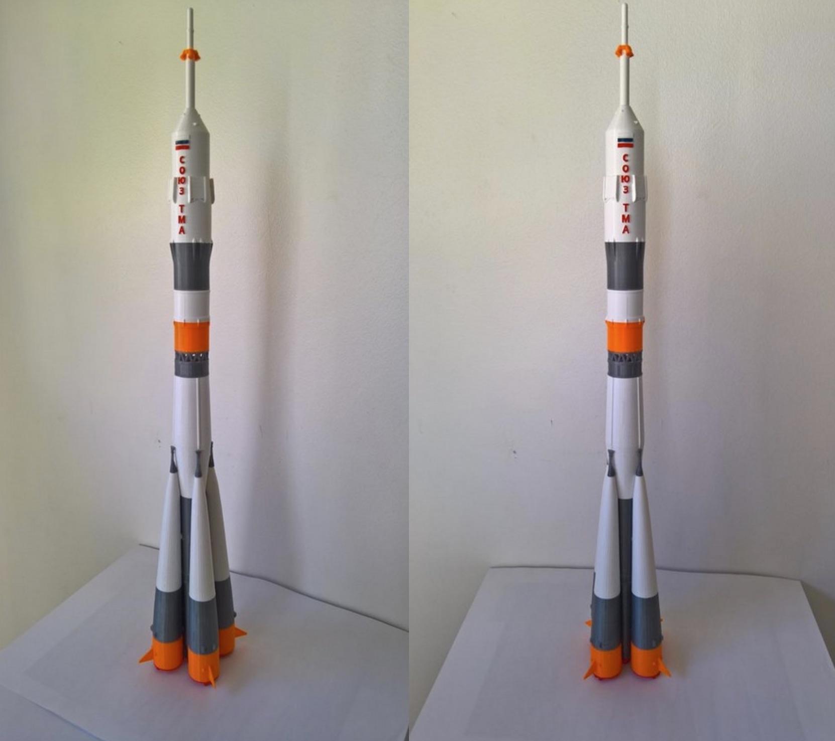 A 3D Printed Soyuz FG Rocket Kit For The